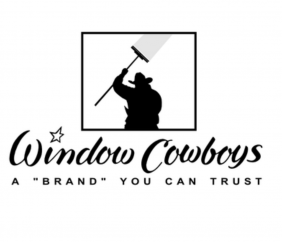 Logo of window cowboy insuring that this is a window cleaning brand you can trust